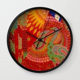 Salome (Floral Garden Landscape) by Vittorio Zecchin Wall Clock