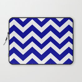 Duke blue - blue color - Zigzag Chevron Pattern Laptop Sleeve