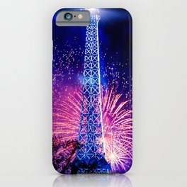 Gorgeous Lovely New Years Fireworks Eiffel Tower Paris Europe HD iPhone Case