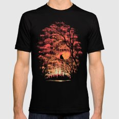Burning In The Skies Black Mens Fitted Tee LARGE