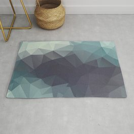 Polygon pattern . Triangles with a texture craquelure . 2 Rug