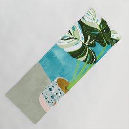 Variegated Monstera #tropical #painting #nature Yoga Mat