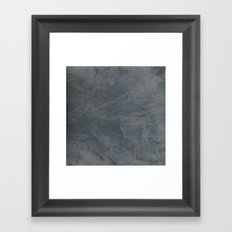 Slate Gray Stucco - Faux Finishes - Rustic Glam Framed Art Print