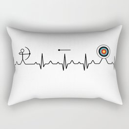 Archery heartbeat Rectangular Pillow