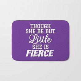 Little & Fierce (Purple) Bath Mat