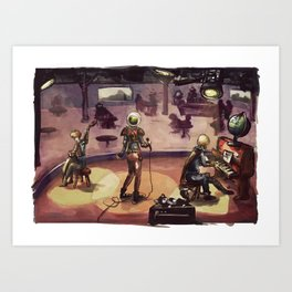 Space jazz Art Print