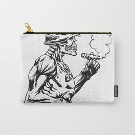Military zombie - Skull military - zombie illustration Carry-All Pouch