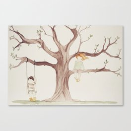Under the Sycamore Tree Canvas Print