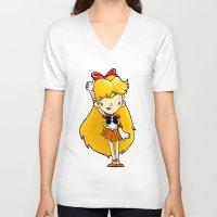 sailor venus V-neck T-shirts featuring Sailor Scout Sailor Venus by Space Bat designs