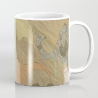 fifth element Mugs featuring The Fifth Element by Itxaso Beistegui Illustrations