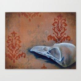 Oil Paint Study - Magpie Pattern Canvas Print