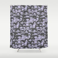 concert Shower Curtains featuring Rock Concert - Guitar Solo by Deep Fried Lettuce