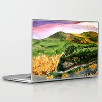 the lord of the rings Laptop & iPad Skins featuring Lord of the Rings Hobbiton by KS Art & Design