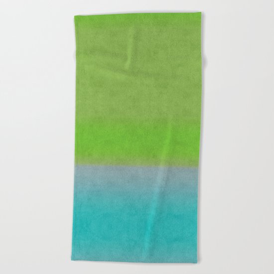 Green greenery greenish Beach Towel