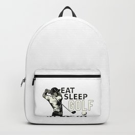 Eat Sleep Golf Repeat Funny Gift for Golfers Backpack