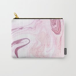 Pink Marble Art Print Carry-All Pouch