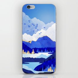 Blue Lake iPhone Skin