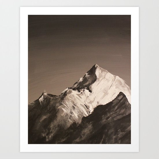 Mountain Painting Art Print