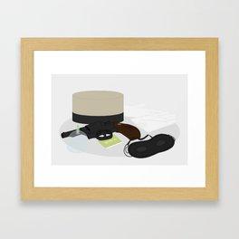 2009: Hotel Man Framed Art Print