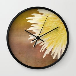 flower on table Wall Clock