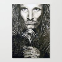 aragorn Canvas Prints featuring Aragorn by Lucy Yin Art