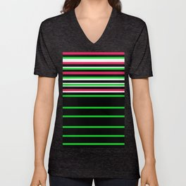 Bright Stripes II Unisex V-Neck