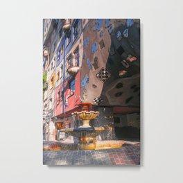 Hundertwasserhaus 3 Vienne Autriche Metal Print
