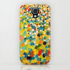 SWEPT AWAY 3 - Fresh Green Colorful Rainbow Ocean Waves Mermaid Splash Abstract Acrylic Painting Slim Case Galaxy S4