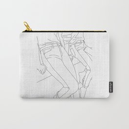 Fashion illustration line drawing - Calan Carry-All Pouch