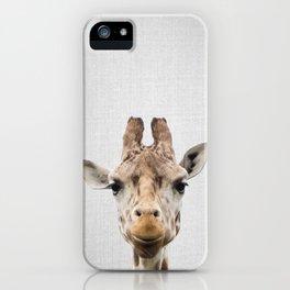 Giraffe - Colorful iPhone Case