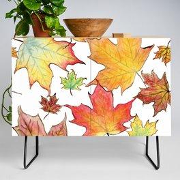 Autumn Maple Leaves Credenza