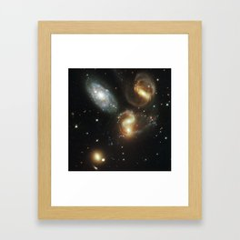 Galactic wreckage Framed Art Print