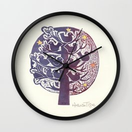 Untitled (tree), etching Wall Clock