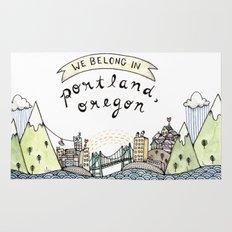 We Belong in Portland Rug