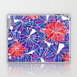 Water Lilies – Indigo & Red Palette Laptop & iPad Skin