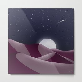 Starry Desert Metal Print