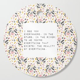 I see you everywhere - V. Woolf Collection Cutting Board