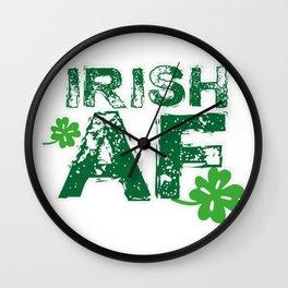 Irish Funny St Patrick's Day Men Women Wall Clock