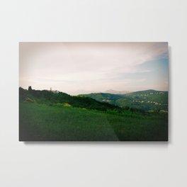 landscape near labin croatia summer Metal Print