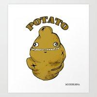potato Art Prints featuring POTATO  by Michelena