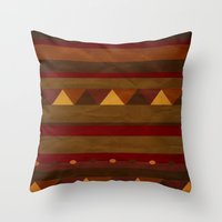 native american Throw Pillows featuring native. by kelmeloo