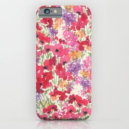 Big Red Poppy Patch iPhone Case