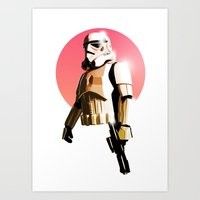 stormtrooper Art Prints featuring Stormtrooper by Skyfisher