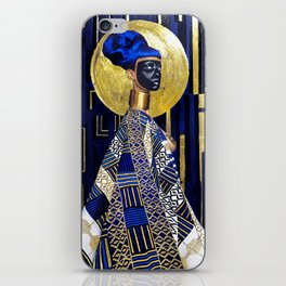 GOLD & BLUE---PAINT iPhone Skin
