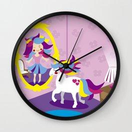 I LOVE THE UNICORNS- THE MIRROR Wall Clock