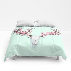 CHERRY BLOSSOM SKULL Comforters