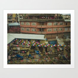 Kathmandu City Roof Tops - Architecture 05 Art Print