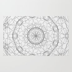 the fountain - floral mandala Rug