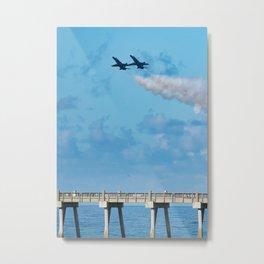 Section High-Alpha Pass over Pensacola Beach Pier Metal Print