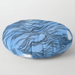 Man & Nature - The Dangerous Sea Floor Pillow